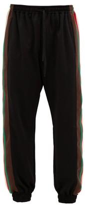 Gucci Web-striped Jersey Track Pants - Black