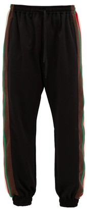 Gucci Web-striped Jersey Track Pants - Mens - Black