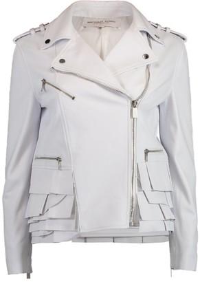 Michael Kors Peplum Ruffle Moto Jacket