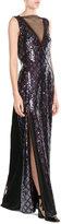 Marc Jacobs Floor Length Sequin Embellished Gown
