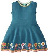 Little Green Radicals Flower Knitted Dress (Baby) - Biscan Bay-3-6 Months
