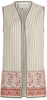 Etro Stripe Wool Longline Waistcoat