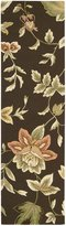 Nourison Fantasy FA11 Chocolate Rectangle Rug, 2.3x8.0