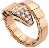 Bvlgari Rose Gold and Diamond Serpenti Ring