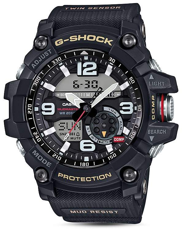 Casio G-Shock Mudmaster Analog/Digital Watch, 55.3mm