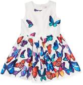 Halabaloo Butterfly Print dress