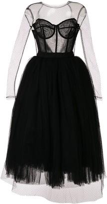 Dolce & Gabbana fishnet tulle dress