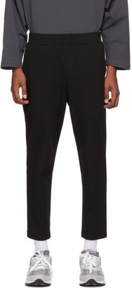 N.Hoolywood Black Waist Panel Trousers