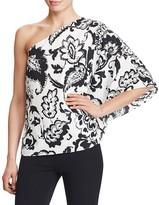 Lauren Ralph Lauren Paisley Print One Shoulder Top