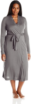 Yummie by Heather Thomson Women's Plus-Size Pima Jersey Long Robe