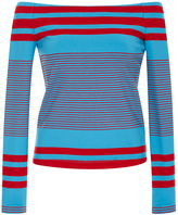 Rosetta Getty Off the Shoulder Sailor Striped Top