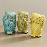 August Grove Wise Owl 3 Piece Figurine Set