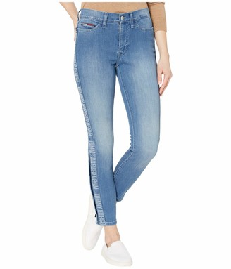 Tommy Hilfiger Women's Adaptive Jegging Knit Jean Legging with Magnetic Closure at Outside Hem