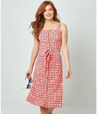 Joe Browns Checked/Floral Print Dress