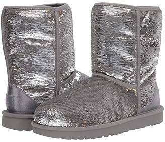 UGG Classic Short Cosmos Sequin (Silver/Gold) Women's Boots