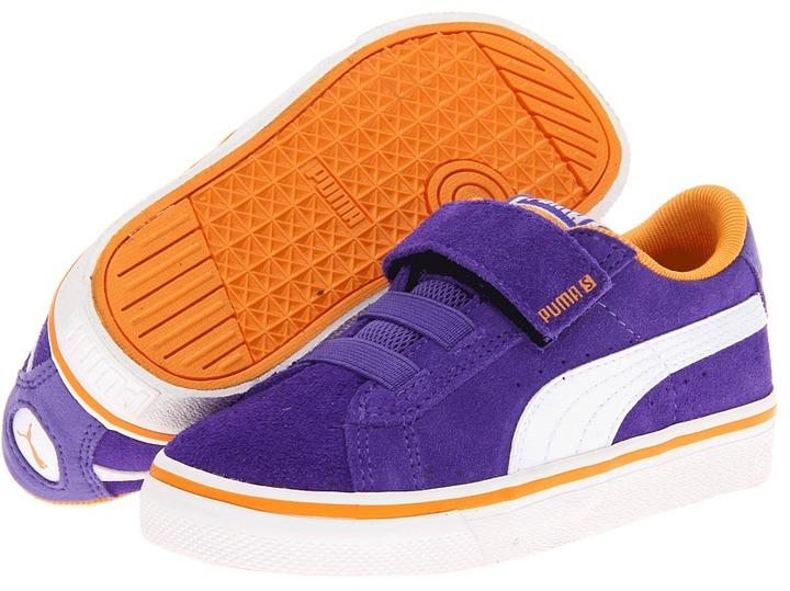 Puma Kids S Vulc V (Toddler/Little Kid/Big Kid) (Liberty Blue/White/Apricot) - Footwear
