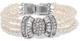 Ben-Amun Silver-Tone Faux Pearl And Crystal Bracelet
