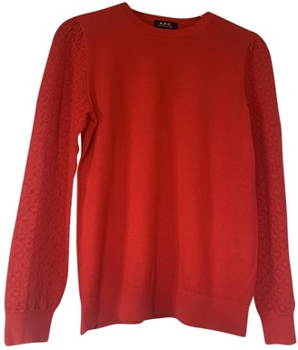 A.P.C. Red Cotton Knitwear