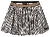 Catimini Black and White Heart Print Puffball Skirt