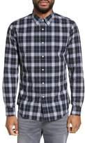 Slate & Stone Men's Trim Fit Ombre Plaid Sport Shirt