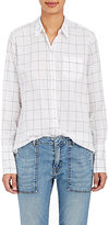 "Nili Lotan Women's ""NL"" Graph-Checked Cotton Shirt"