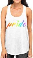 Interstate Apparel Inc Junior's Rainbow LGBT Gay Pride Tee B783 PLY Racerback Tank Top