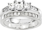 MODERN BRIDE 2 CT. T.W. Diamond 14K White Gold Bridal Set
