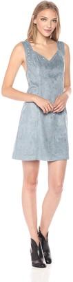 Somedays Lovin Women's Slate Sky Faux Suede Pinafore Dress