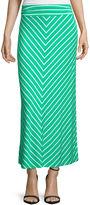 Liz Claiborne Mitered Stripe Maxi Skirt - Petite