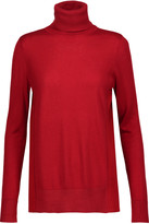 Magaschoni Paneled silk and cashmere-blend turtleneck sweater