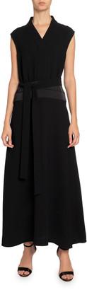 Victoria Victoria Beckham Sleeveless Long Dress w/ Cummerbund