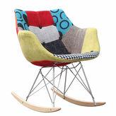 Asstd National Brand Patterned Rocker Arm Chair