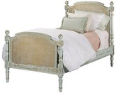 The Well Appointed House Hand Painted Twin Size Empire Bed in Versailles Blue
