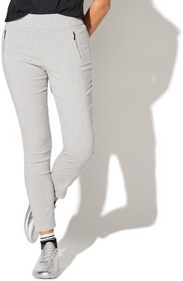 Juniors' Vylette Zipper Detailed Pull-on Luxe Pants
