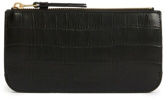 AllSaints Croc-Embossed Leather St James Wallet
