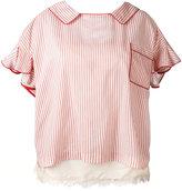 Sacai boxy layered top - women - Polyester/Nylon/Cupro - 2