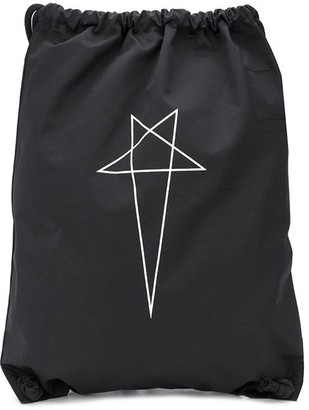 Rick Owens Star Print Drawstring Backpack
