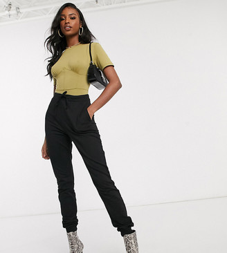 ASOS DESIGN Tall basic jogger with tie