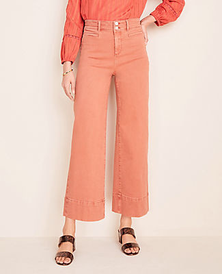 Ann Taylor Tall Wide Leg Crop Jeans