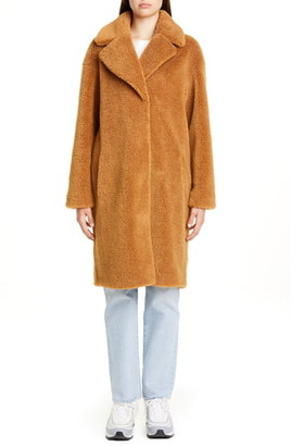 Stand Studio Camille Teddy Faux Fur Cocoon Coat
