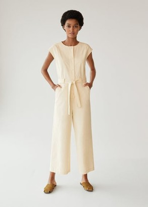 MANGO Cotton long jumpsuit
