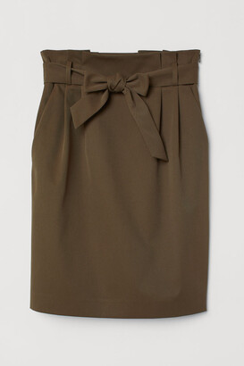 H&M Skirt with Tie Belt - Green