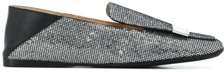 Sergio Rossi Crystal Embellished Loafers