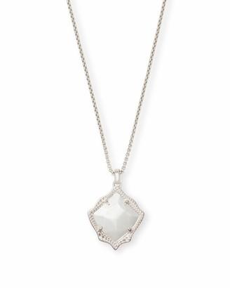 Kendra Scott Kacey Long Pendant Necklace in Silver