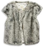Kate Spade Girls 2-6x Cap Sleeve Faux Fur Vest