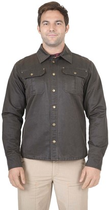 Men's Mountain and Isles Waxed Cotton Shirt Jacket with Flannel Lining
