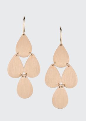 Irene Neuwirth 18k Rose Gold 4 Drop Chandelier Earrings