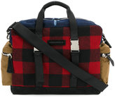 DSQUARED2 tartan duffle bag - men - Cotton/Leather/Nylon/Wool - One Size