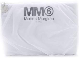 MM6 MAISON MARGIELA logo print clutch bag
