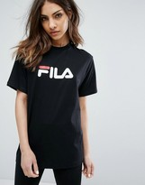 Fila Oversized Boyfriend T-Shirt With Chest Logo